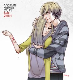 american horror story Tate and Violet.
