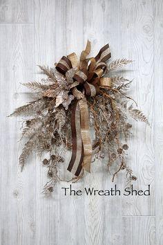 Ships Free Poinsettia Winter Wreath Christmas Wreath Winter