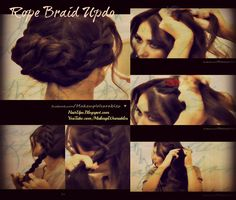 ROPE BRAID HAIR TUTORIAL, HOW TO DO A FRENCH ROPE BRAIDED HAIRSTYLE FOR LAYERED MEDIUM LONG HAIR - EVERYDAY LOOK, WEDDING, PROM, HOMECOMING