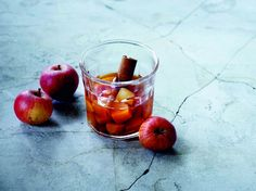 Warme appelcider met rum