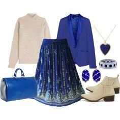 Blue the Royal Kind by gabriele-bernhard on Polyvore featuring AG Adriano Goldschmied, Maison Margiela, BC Footwear, Louis Vuitton, Tiffany & Co., Jennifer Meyer Jewelry, BERRICLE and RoyalBlue