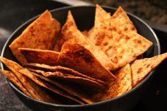 Healthy oven-baked tortilla chips.  Recipe video:  http://youtu.be/kGujVbGk-J0