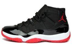 Nike Air Jordan Shoes | Mens Nike Air Jordan 11 XI Retro BRED Basketball Shoes Black / White ...