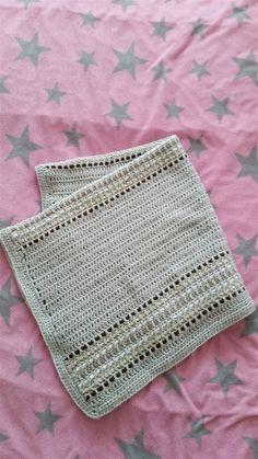 Babydecke im Web Look inkl. gratis Anleitung auf Deutsch....free baby blanket crochet