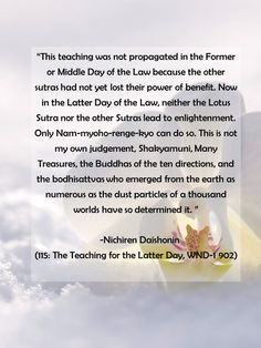 #Gosho 115: The Teaching for the Latter Day, WND-1 902