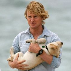Owen Wilson/ Marley and Me Marley And Me, Mans Best Friend, Best Friends, Owen Wilson, Cute Guys, Puppy Love, Fur Babies, Dogs And Puppies, Dog Cat