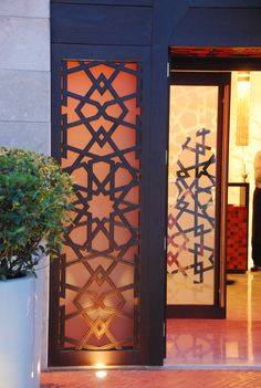 Main entrance to restaurant in arabic style
