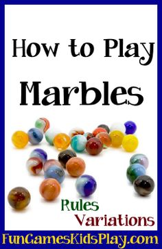 How to play the game of Marbles. Fun for kids of all ages! Indoor or outdoor – S… How to play the game of Marbles. Fun for kids of all ages! Indoor or outdoor – Set up, instructions and variations. Games To Play With Kids, Family Fun Games, Family Fun Night, Summer Activities For Kids, Backyard For Kids, Backyard Games, Outdoor Games, Outdoor Activities, Fun Activities
