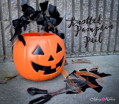 We are feeling especially knotty this Halloween! Spice up your trick or treat pails with some knots! Simply choose your ribbons (we have thousands ) and knot in a pattern, covering the entire handle! Great idea to keep those kiddos busy on a rainy weekend!