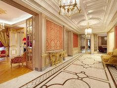 Mouldings, tapestry, golden furniture, marble - Daniel Féau Conseil Immobilier