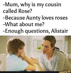 ROFL... come on, it could be worse. Everyone loves Alistair!
