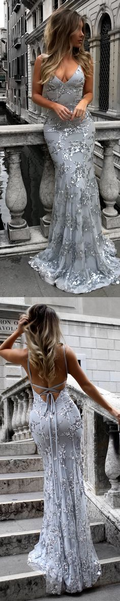 Lace Prom Dress, Mermaid Prom Dress, Tulle Prom Dress, Sexy Prom Dress, Backless Prom Dress#prom#promdress#promdresses