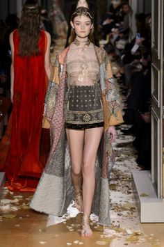 Valentino Spring Collection 2015. VALENTINO ADDS A BYZANTINE TOUCH TO ITS MAGICAL, MEDIEVAL COUTURE COLLECTION. More photos of the collection on the link.