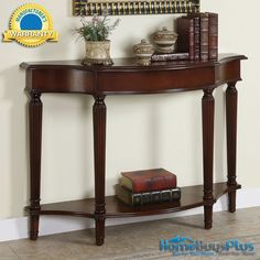 Powell Masterpiece Cherry Sofa Console Table.  $231
