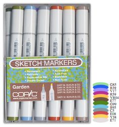 Copic - Sketch Marker Set - Garden - 12 Piece Set at Scrapbook.com $77.99