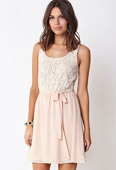 Hyperfemme Floral Lace Dress from Forever 21 Stylish Dresses, Cute Dresses, Short Dresses, Summer Dresses, Pink Dresses, Floral Lace Dress, Chiffon Dress, White Dress, Holiday Outfits