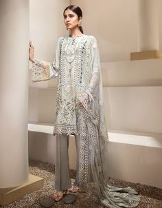 6f2eb7deff Chiffon Embroidered Front Chiffon Plain Extension for Front Satin Silk  Printed Back Chiffon Embroidered Sleeves Chiffon Embroidered Dupatta Chiffon  ...