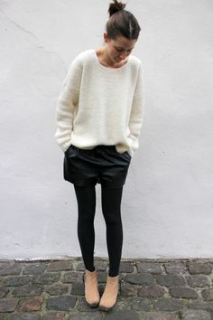 Muffi, our pretty, comfy and quality knit spotted on the cool Danish fashion blogger Tine Strange. Read more: http://stylista.dk/blog/tine-strange #objectfashion