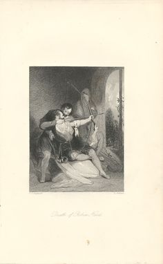 """""""Death of Robin Hood,"""" an 1841 engraving from The Book of Archery.  Available at http://www.uncannyartist.com/products/1841-prints-archery."""