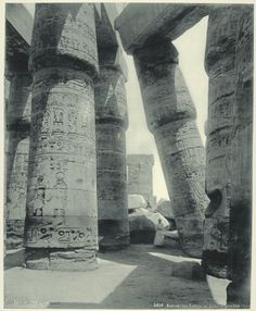humanoidhistory:  The Grand Temple at Karnak, Egypt, 1870s, courtesy of the New York Public Library.