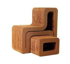 paperboard bench | Eco Design, Cardboard Furniture, Cardboard Armchairs, Paperboard ...