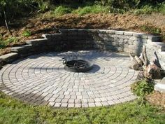 fire pit in retaining wall images - Google Search