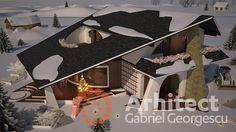 Casa cu etaj 54 | Proiecte de case personalizate | Arhitect Gabriel Georgescu & Echipa Modern House Facades, Facade House, Design Case, House 2, Simple House, House Plans, Bedroom Decor, How To Plan, Building