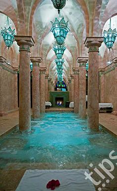 Morocco, Marrakech, hotel Riad spa