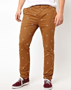 Slim Chino With Embroidery