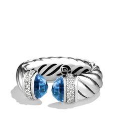 David Yurman Waverly bracelet with blue topaz and diamonds. Love this bracelet? Check out our David Yurman bracelets at Vanscoy, Maurer & Bash.