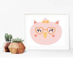 Critter Face Print - Kids Owl Print, Printable Wall Art, 8x10 Kids Print, 8x10 Nursery Print, Printable Home Decor, 8x10 Print,Kids Bedroom by creamcityprintables on Etsy https://www.etsy.com/listing/535994343/critter-face-print-kids-owl-print