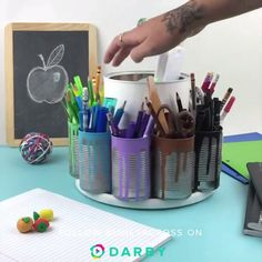 How to DIY a homework station for back to school. This DIY hack is genius