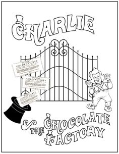 Coloring sheet or make folder, gates open to reveal his factory