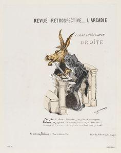 Revue Rétrospective....L'Arcadie. Place of origin: Paris, France (printed). Date: 1870-1871 (printed). Artist/Maker: Unknown (caricaturist) Duclaux (publisher). Courtesy: © Victoria and Albert Museum, London (UK).