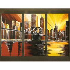Steden Schilderijen. Zowel modern als abstract. Prachtig met de handgeschilderd. Unieke wanddecoratie.
