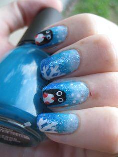 Penguin nail tutorial