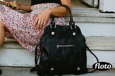 Bolotana Bag in Black Italian nappa leather.