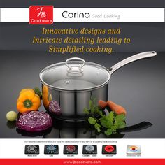 #JBCookware #saucepan #Carina #cookware #kitchenware #modernkitchen Gas And Electric, Innovation Design, Kitchenware, Cookware, Dishwasher, How To Look Better, Stainless Steel, Ceramics, Cooking