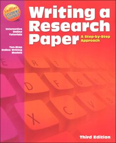 Writing a Research Paper - A Step-By-Step Approach Student Edition (Great guide for HS-college research papers. Not a creative writing program. Writing Paper, In Writing, Creative Writing, Research Images, Student Guide, Certificate Programs, School Looks, Research Paper, Free Resume