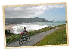 Two wheels, three beaches and hundreds of wildflowers. That's what you have on this easy 8-mile (round-trip) bike ride in Pacifica. Ready to pedal through petals? Starting from Sharp Park Beach, the first three-quarters of a mile is a coastal cruise on a wide dirt trail known as the Sea Wall