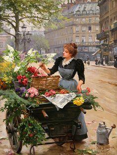 Flower. French artist Louis Marie de Schryver (1862-1942). Discussion on LiveInternet - Russian Service Online Diaries