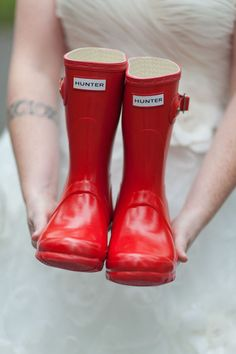 Short Red Hunter Boots!! I want these!!