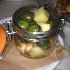 At FIG Santa Monica ~ olives, Marcona almonds and manchego
