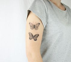 vintage butterflies temporary tattoo  choose your by pepperink