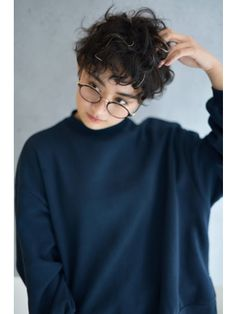 Curly Pixie Haircuts, Curly Hair Cuts, Cut My Hair, Short Hair Cuts, Curly Hair Styles, Tomboy Haircut, Androgynous Haircut, Fluffy Hair, Hair Reference