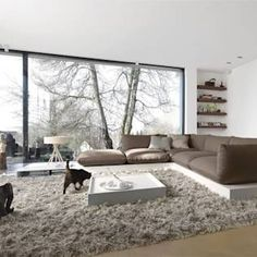 Truly inspiring cosy winter living room space with white walls, grey sofa, grey rug.and a CAT! by STREIF Haus GmbH Beautiful Living Rooms, Cozy Living Rooms, Interior Design Living Room, Living Room Designs, Living Room Decor, Interior Decorating, Decorating Ideas, Decor Ideas, Home Interior