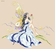"ru / NataLedi - Альбом The Morning Fae"" Fantasy Cross Stitch, Cross Stitch Fairy, Cross Stitch Angels, Cross Stitch Charts, Cross Stitch Designs, Cross Stitch Patterns, Cross Stitch Pictures, Beautiful Fairies, Bead Loom Patterns"