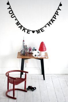 #Wordbanner #tip: You make me happy - Buy it at www.vanmariel.nl - € 11,95