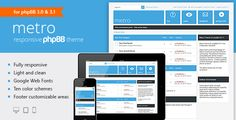 Metro — A Responsive Theme for phpBB3 | Free and Premium Themes - Templates