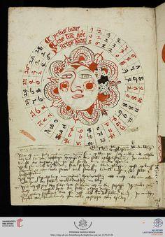 Astronomical / astrological diagram, - Vatikan, Biblioteca Apostolica Vaticana, Pal. lat. 1370 Astronomisch-astrologischer Miszellaneenband — Südwestdeutschland und Elsaß (Straßburg), 15. Jh